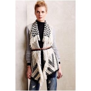 Anthropologie Moth Fringed Amba Cardigan Sweater